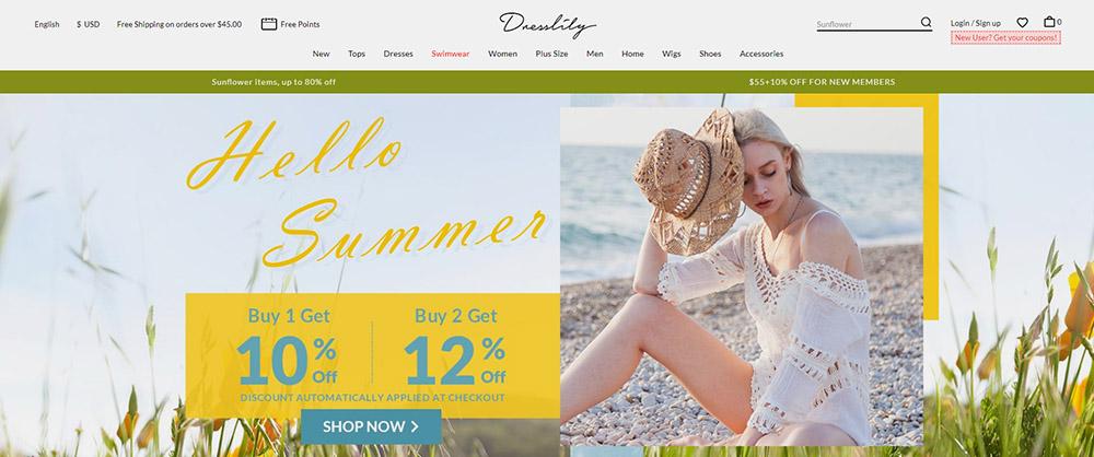 dresslily tiendas top 20